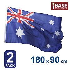 2X AU Aussie Australia Australian OZ Flag National Outdoor 180x90cm 6x3ft