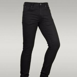 Men Skinny Jeans Slim Fit Black Denim Super Stretch Regular Short Long All sizes