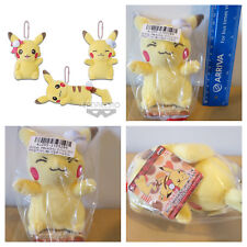 Banpresto Girlish PIKACHU Keychain Pokemon Plush Blue Ribbon Japan Exclusive