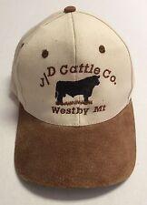 J/D Cattle Company Hat Westby Montana MT Baseball Cap Livestock JD Co Ranching