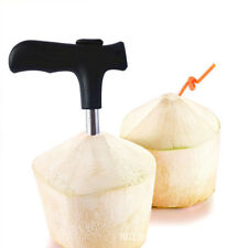 Coconut Knife Opener Tool Hole Stainless Steel Driller Stick Cut Drill Tap Clean