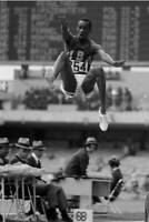 OLD SPORTS PHOTO OLYMPICS Bob Beamon Of The United States Leaps