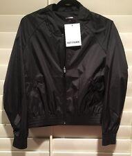 NWT IVY PARK BLK Nylon Zip Up Lightweight, Showerproof Bomber Jacket XS or M $99