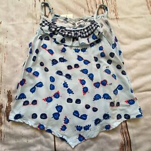Epic Threads girls  hankerchief tank top-blue-size 4/4T-NWT