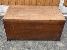 More details for vintage camphor wood chest/storage/ottoman/trunk blanket box large needs tlc