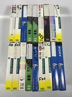 Lot Of 18 Pre-Recorded Mix Label T-120  VHS Tapes Sold As Used Blanks T9