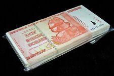 100 x Zimbabwe 50 Billion Dollar banknotes-AA/AB 2008/ VF+ to XF clean bundle
