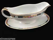 Gimbel Brothers KPM Bavaria Germany China 27044-4576 Roses & Gold GRAVY BOAT