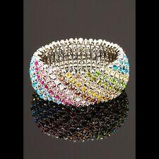 MEGHAN FABULOUS Crystal  stretch cuff bracelet NWT!!