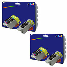 2 Black + 2 Colour Compatible Printer Ink Cartridges for Advent AWP10 [AD10]