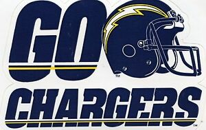CHARGERS VINTAGE NFL 1980'S AUTHENTIC STICKER  TEAM ISSUED  MINT