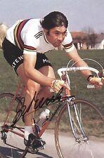 EDDY MERCKX 1974 WORLD CHAMPION RETRO REPRODUCTION SIGNED POSTER