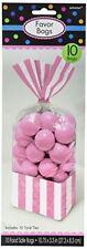 Amscan - Sacchetti per dolci e Caramelle fantasia a righe colore Rosa