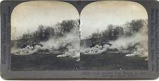 Scène de la Grande Guerre 14-18 WW1 Tank Stéréo Stereoview