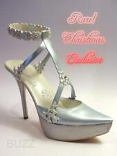 Snow Queen Silvery Platform Sparkles Snowflakes Crystals Just the Right Shoe Wow