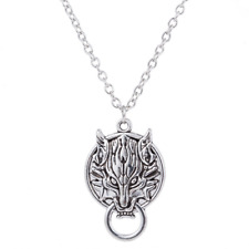 Final Fantasy Antique silver Wolf Necklace,  Wolf necklace gift