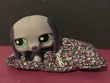 Littlest Pet Shop LPS Dachshund #1367 & handmade Liberty print sleeping bag