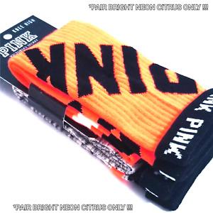 Victoria's Secret PINK KNEE HIGH Socks ¹Pair Ribbed Collegiate Ltd Edt + Bonus!