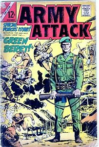 ARMY ATTACK #46 - SCARCE SILVER AGE CHARLTON - GREAT COVER-NR!