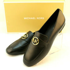 MICHAEL KORS Size 6.5 Black Heather With MK Logo Womens Fashion Loafer MSRP $110