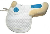 Stephens Luxury Sheepskin Lined GEL EZE Cushions Gelee GP JUMPING Saddle Numnah