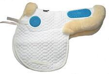 Stephens Luxury Sheepskin Lined GEL EZE Cushions Gelee GP JUMPING Saddle Numnah