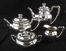 4-tlg.Set Kaffeeservice / Teeservice  Koch & Bergfeld 800er Silber Top Zustand