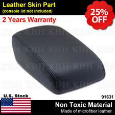 Armrest Center Console Lid Cover Synthetic Leather Fits Ford Focus 12-18 Black