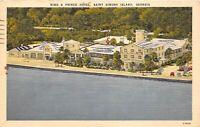 Saint Simons Island Georgia 1952 Postcard King & Prince Hotel