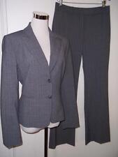 Antonio Melani Gray Pinstripe Career Pant Suit Jacket 10 Pant 8