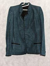 Haider Ackermann Silk Blend Green Gloss Jacket Size 36