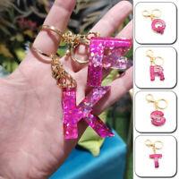 1PC Keychain Key Bag Pendants A-Z Alphabet 3D Suspension DIY Resin Key Ring Gift