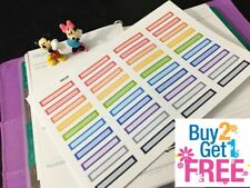 PP103 -- Small Funtional Box Planner Stickers for Erin Condren (40 pcs)