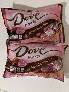 Lot of 2 Bags Dove Promises Milk Chocolate Hearts 8.87 Oz Bags EXP 01/21