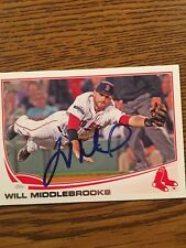 Boston Red Sox Will Middlebrooks Autograph Signed Auto Card