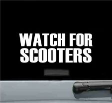 watch for scooters vinyl decal sticker bumper car truck safety road traffic