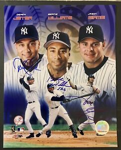 Signed 8x10 Photo Jeter Williams Giambi Autographed