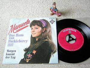"""MANUELA Das Haus von Huckleberry Hill / Morgen.. 1968 7"""" +PS TELEFUNKEN U 56002"""