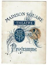 1880 Madison Square Theater Program for Hazel Kirke by Steele MacKaye