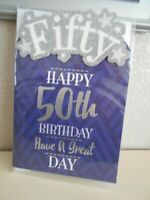 Fifty Happy 50th Birthday Have a Great Day 50 fifty Happy Birthday Male card 50