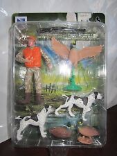 New Ray Wild Hunting Play Set Duck Hunter With Dogs and Shotgun Ducks