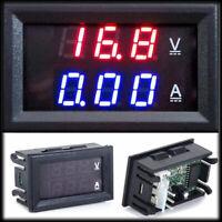 DC 0.0-100V 10A Dual LED Digital Voltmeter Amperemeter AMP O1W9 Po Spannung O7D2