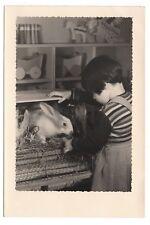 PHOTO Classe de Maternelle 1950 École Enfant Écolier Lapin Animal Apprentissage