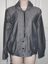 DEREK LAM Women's Black/Gray Organic Cotton Blend Zip Snap Jacket S NWTS $70