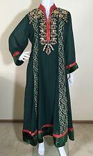 Pakistani Indian Party wear Embroidery Long Green Wedding Salwar Kameez M