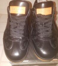 Rare Louis Vuitton Black Monogram Leather Sport Sneaker G0 0043 LV9 / US 10 10.5