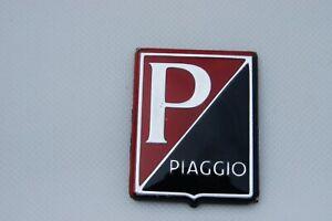 VESPA Piaggio Legshield Black/Red Adhesive Badge