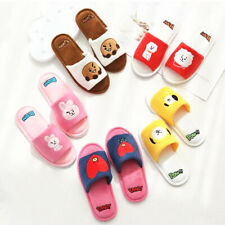 KPOP BT21 new plush all-inclusive slippers half-pack slippers