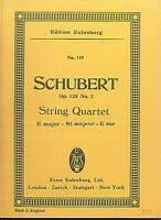 Schubert : String Quartet op. 125 No.2. E dur ~ Taschenpartitur