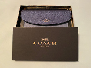 Coach NEW BOXED SLIM ENVELOPE WALLET WITH METALLIC COLORBLOCK~Navy~F22714